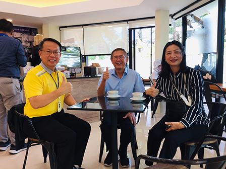 Executives from J.S. Vision Ltd. visited the branch of 60+ Plus Café at the Government House of Thailand on 17 July 2020, Bangkok, Thailand