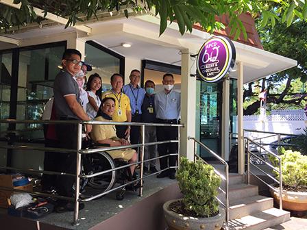 The Thai Yamazaki President, Mr. Masami Akiyama together with APCD management team visited a progress branch of 60+ Plus Café at Government House of Thailand on 17 July 2020, Bangkok, Thailand