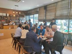 The Social Development and Human Security Minister and  the Director General of the Department of Empowerment of Persons with Disabilities (DEP) visit APCD  60+ Plus Bakery and Chocolate Café  on 6 March 2020, Bangkok, Thailand