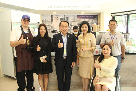 The Director General of the Department of Empowerment of Persons with Disabilities (DEP) visited to the Soft Opening of 60+ Plus Café at Government House of Thailand, 22 July 2020, Bangkok, Thailand