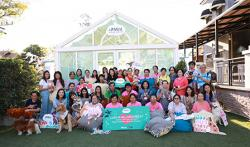 "APCD Co-organizes Dog Therapy Programme on the theme ""Love Is All Around"" in Collaboration with Bertram (1958) Co. Ltd on 15 February 2020 at Mint Dog Yard, Bangkok, Thailand"